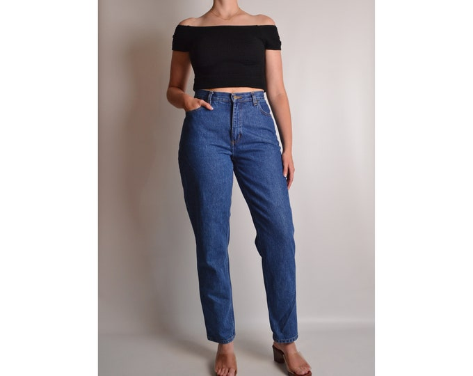 "Vintage High Waist Tapered Jeans (28""W)"