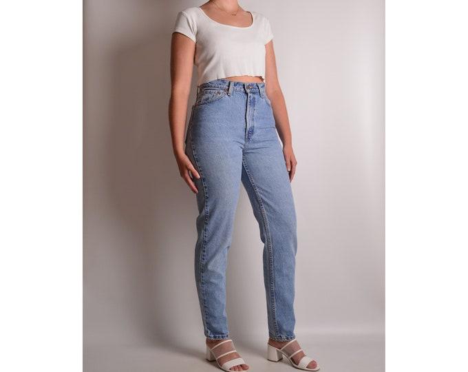 "Vintage LEVI'S 512 Slim Fit Jeans (28""W) High Waist"