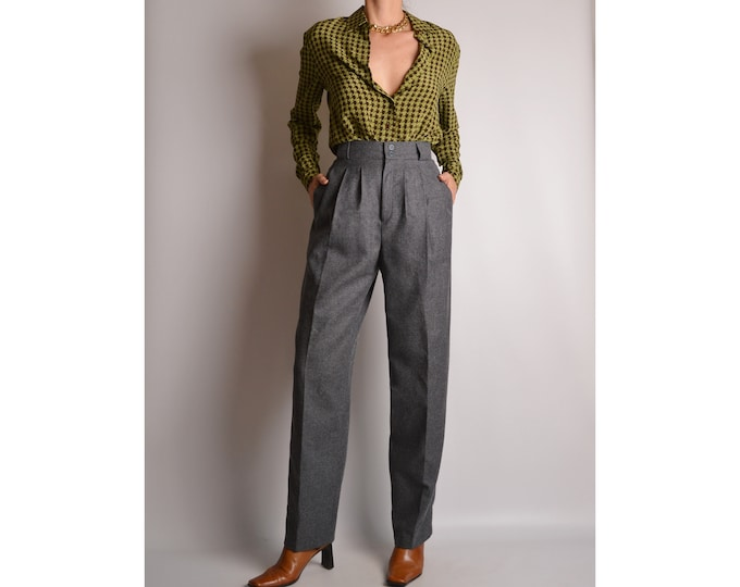 "Vintage Gray Wool Trousers (25""W)"