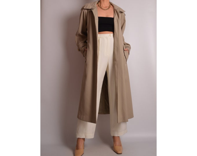 Vintage Soft Drape Neutral Coat (S-L)