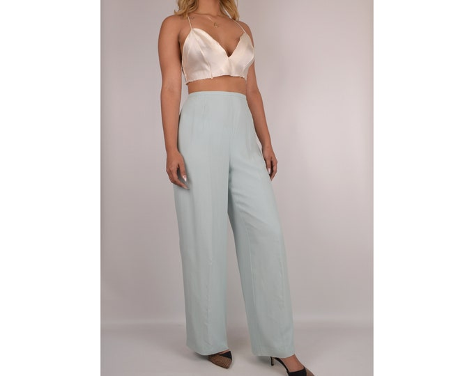 "Pastel Silk Wide Leg Pants (30""W)"