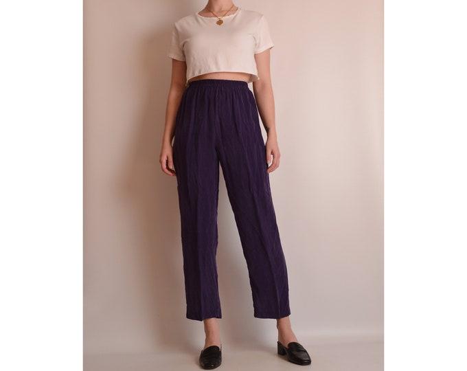 Vintage Crop Silky Easy Pant (XS)