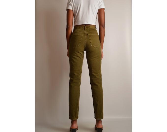 "Vintage Olive High Waist Jeans (26.5""W)"