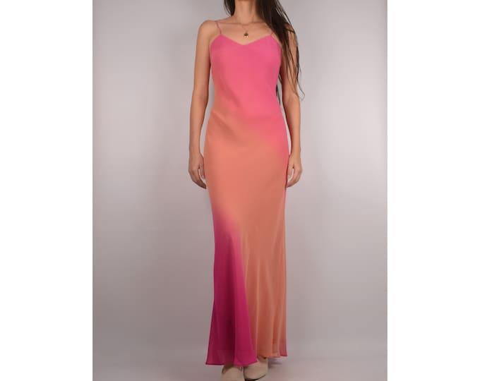 Vintage Sherbet SILK Slip Dress / S