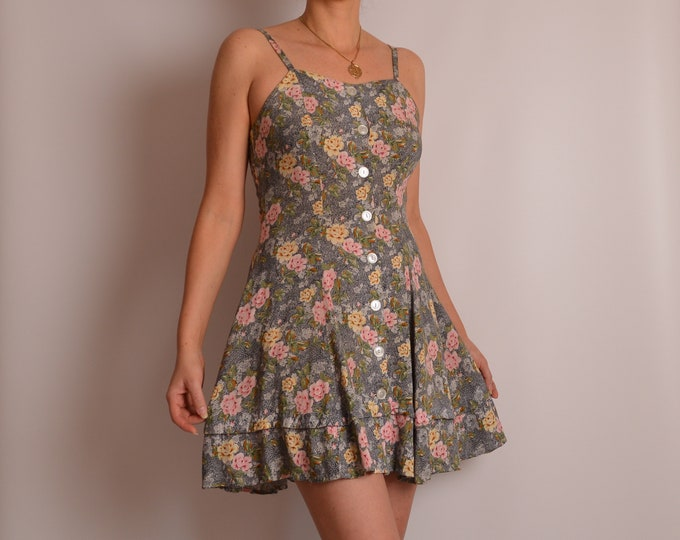 Lovely Vintage Floral Dress (S)
