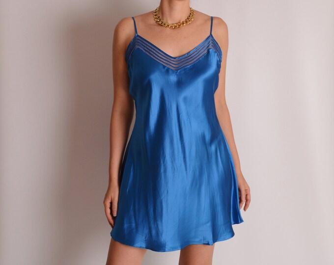 Sapphire SILK Slip Dress (S-L)