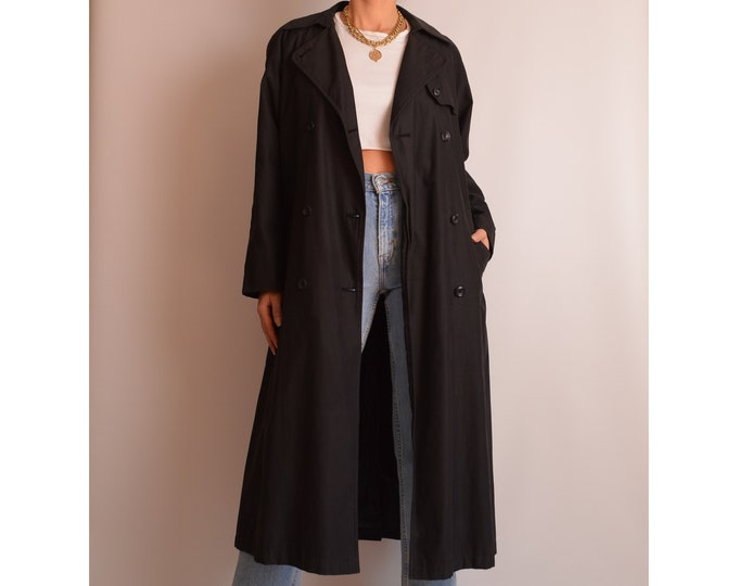Perfect Charcoal Trench Coat (S-L)