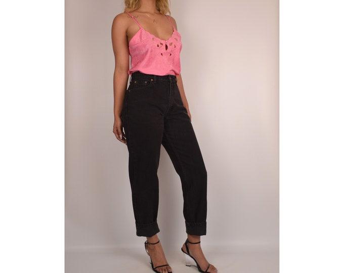 "Vintage Black LEVI'S 550 (29""W) High Waist Jeans"