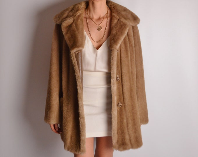 Vintage Faux Fur Winter Coat (S-L)