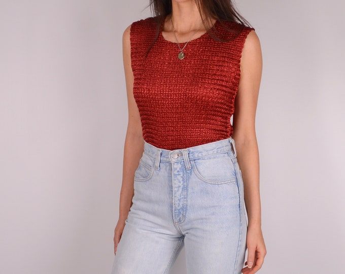 Vintage Rust Textured Top (S-L)