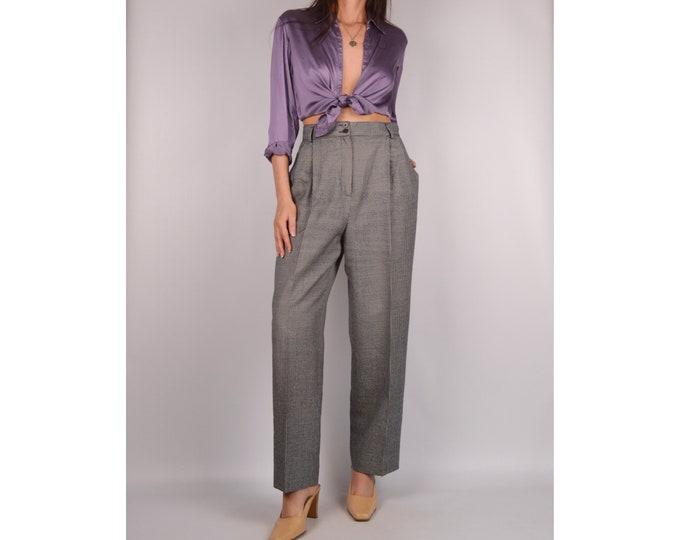 "Flash SALE! Vintage Gray Wool Trousers (29""W)"