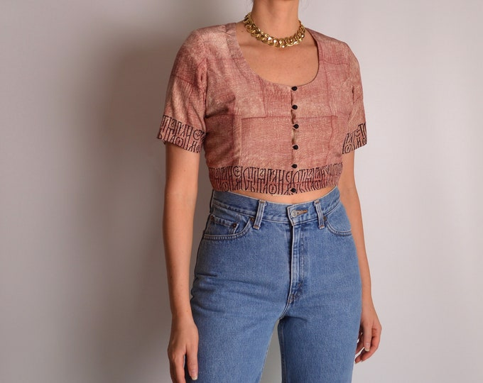 Gorgeous Vintage Crop Top (S-M)