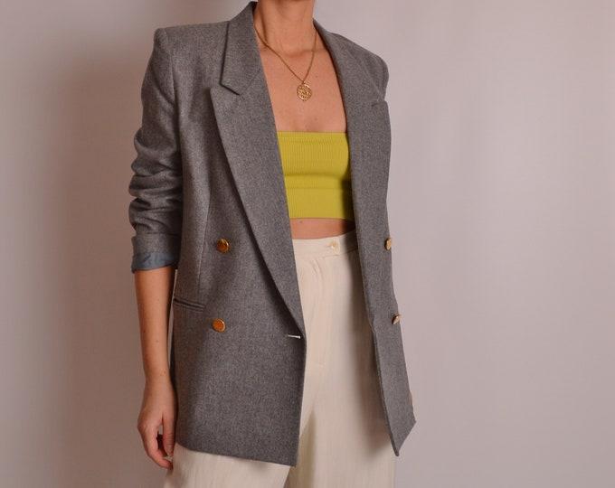 Vintage Gray Wool Blazer (S)