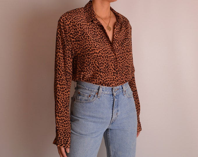 Vintage SILK Animal Print Blouse (S-L)