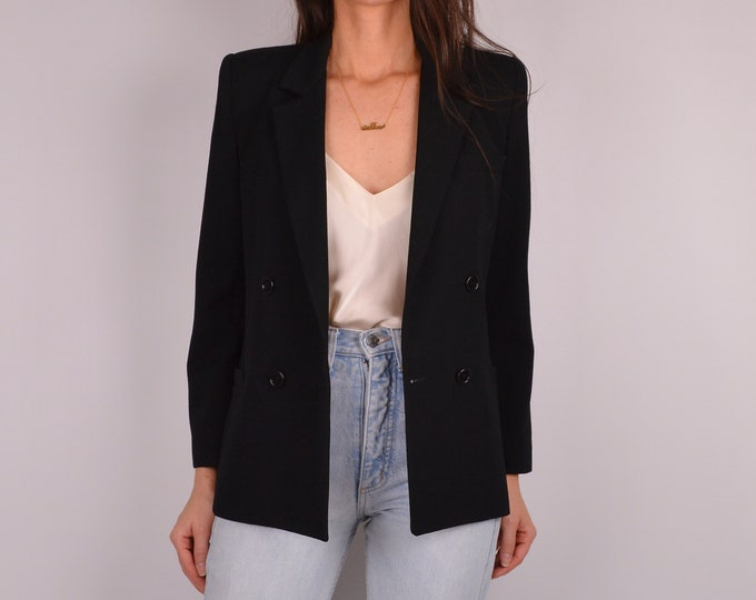 Vintage Black Perfect Fit Blazer (XS-S)