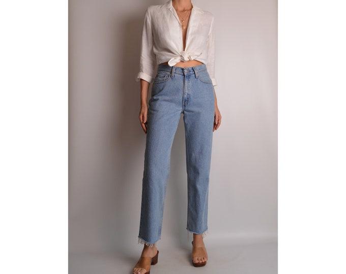 "Vintage LEVI'S 512 Frayed Jeans (28""W)"