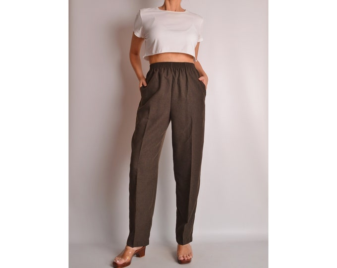 Vintage Cocoa Tapered Lounge Pants (S)
