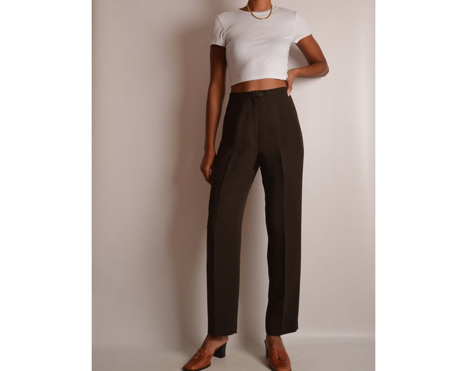 """Vintage Cocoa Trousers (27""""W)"""