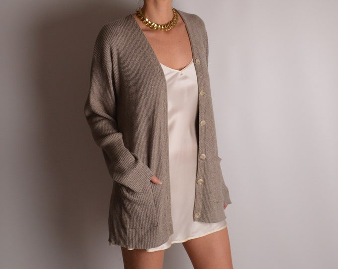Vintage Cotton Cardigan Sweater (S-L)