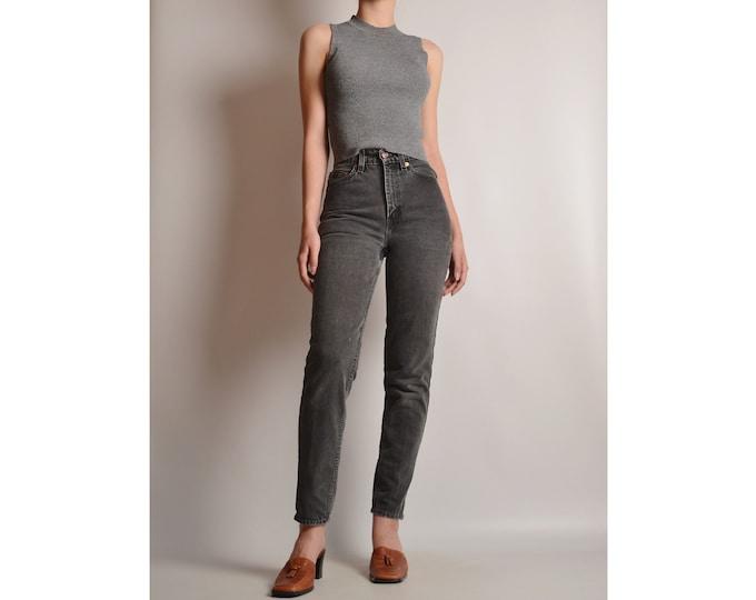 "Vintage LEVI'S 512 (24""W) Slim Tapered Gray Jeans"