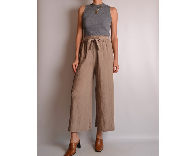 Vintage Crop Wide Leg Pant (XS-S) High Waist