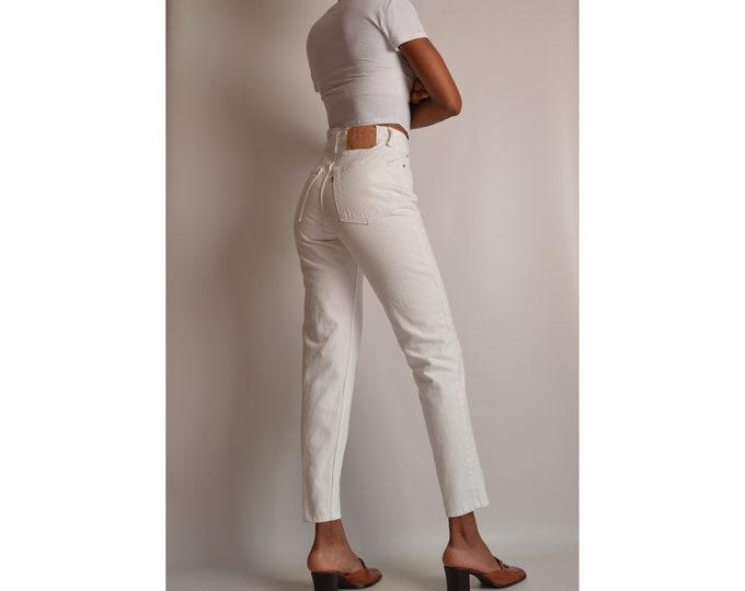 """Vintage White LEVI'S 512 Slim Fit Jeans (28""""W)"""