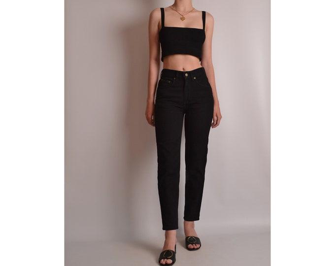 Vintage Slim Fit Black Denim (XS)