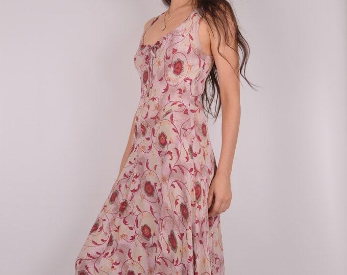 SALE Romantic Vintage Floral Maxi Dress