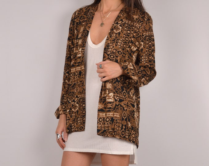 SALE Vintage Printed Cardigan Jacket