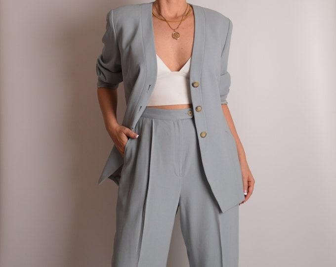 """Vintage Perfect Drape Pantsuit (29""""W)"""