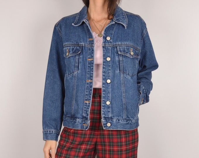SALE Vintage Denim Jacket / button down blue jean