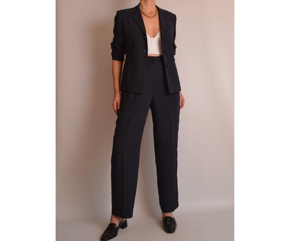 "Vintage Perfect Navy Pantsuit (28""W)"