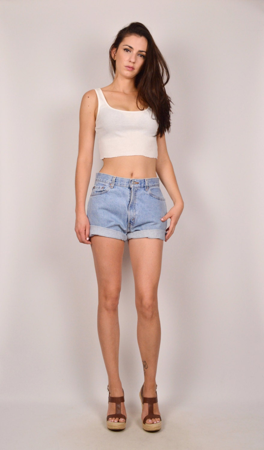 high waist shorts for big thighs