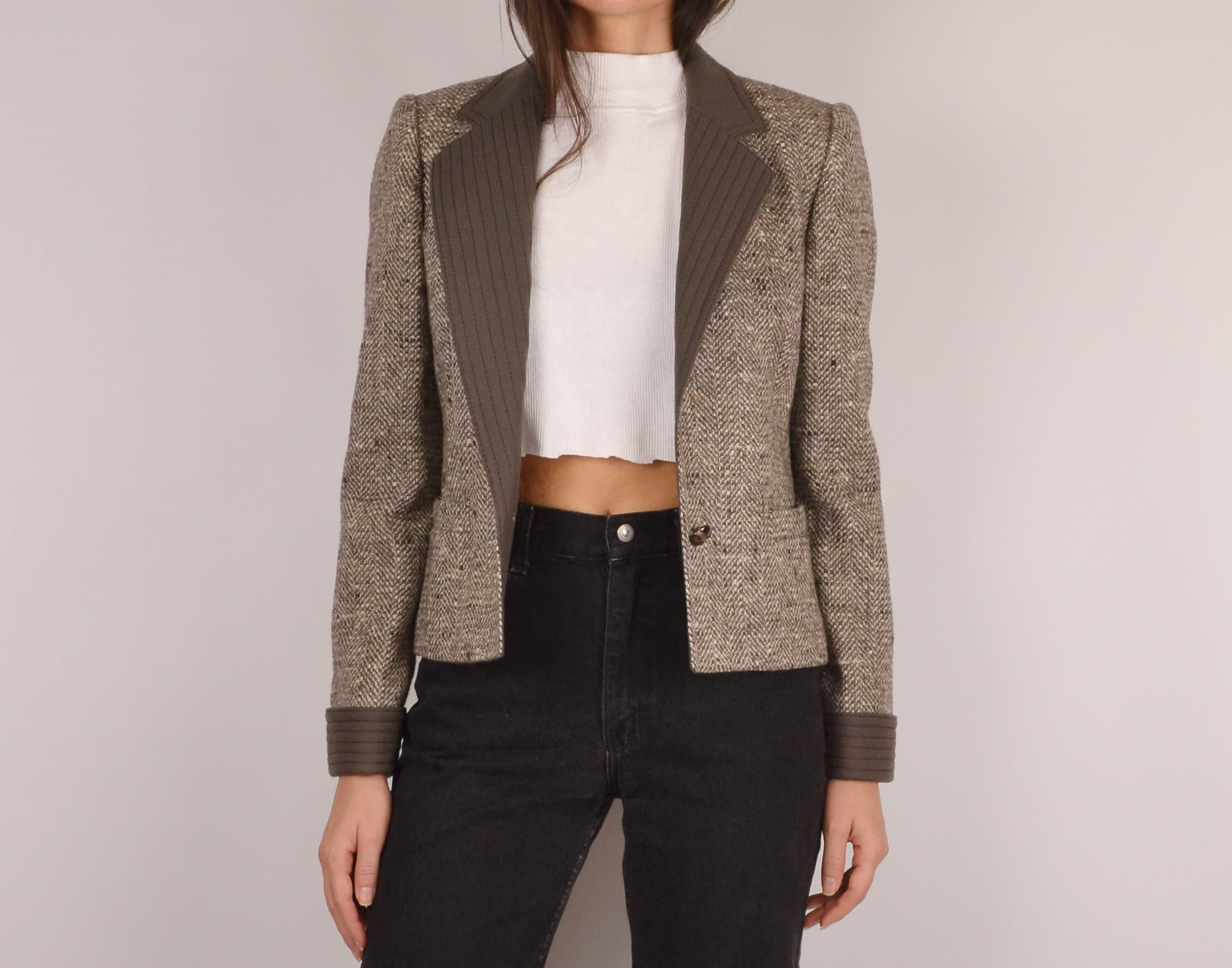 b74307440809 Vintage Louis Feraud Wool Jacket   XS-S