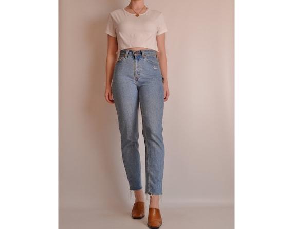 "Vintage LEVI'S 512 Frayed Jeans (26""W)"