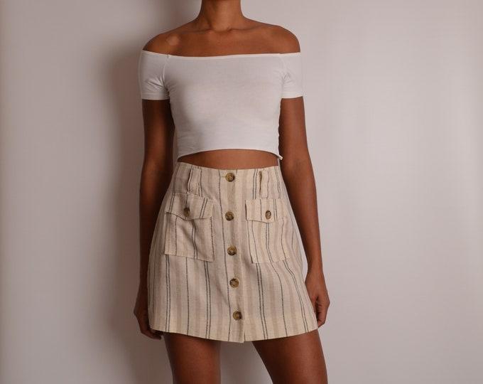 "Vintage Striped Linen Mini (28""W)"