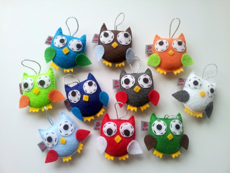 Owl Ornament Set Of 10 Baby Shower Display Bird Party Favor Etsy