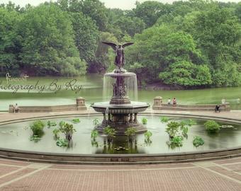 NYC Central Park Iconic Bethesda Fountain Photograph. Manhattan New York City Original print.