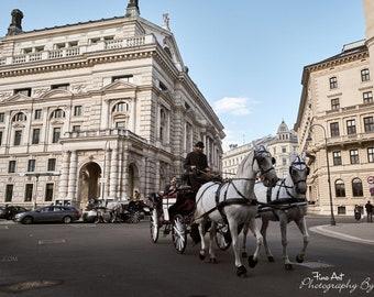 Vienna Street Horse Drawn Carriage - Original Photography - Austria
