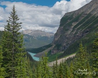 "Lake Louise - Banff National Park, Alberta Canada - Original Fine Art Landscape ""Digital Painting"" Photography"