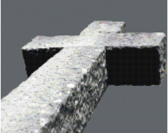 Old Stone Cross Counted Cross Stitch Pattern Chart PDF Download by Stitching Addiction