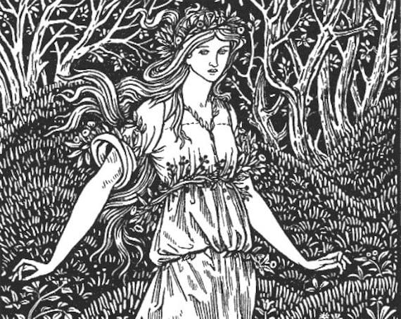 William Morris Wood Beyond World Illustration Counted Cross Stitch Pattern Chart PDF Download by Stitching Addiction