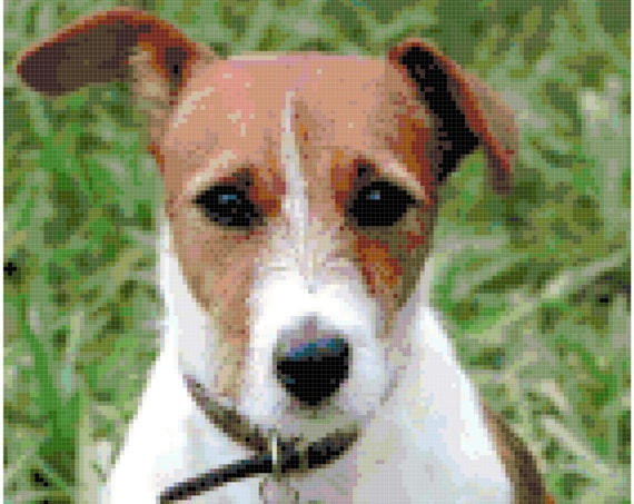 Jack Russell Terrier Counted Cross Stitch Pattern Chart PDF Download by Stitching Addiction