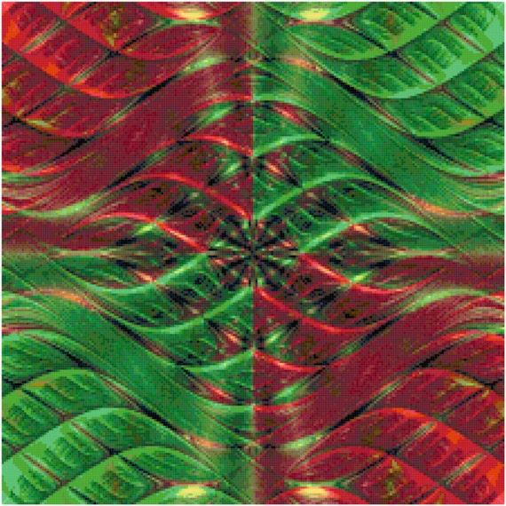 Christmas Colors Abstract Counted Cross Stitch Pattern Chart PDF Download by Stitching Addiction