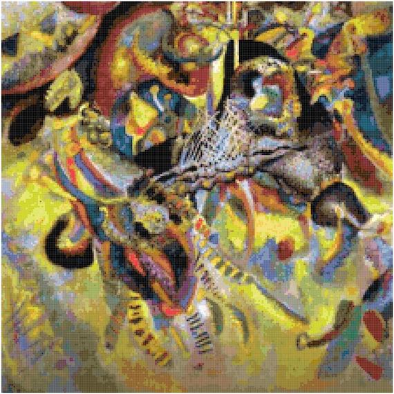 Wassily Kandinsky Fugue Counted Cross Stitch Pattern Chart PDF Download by Stitching Addiction