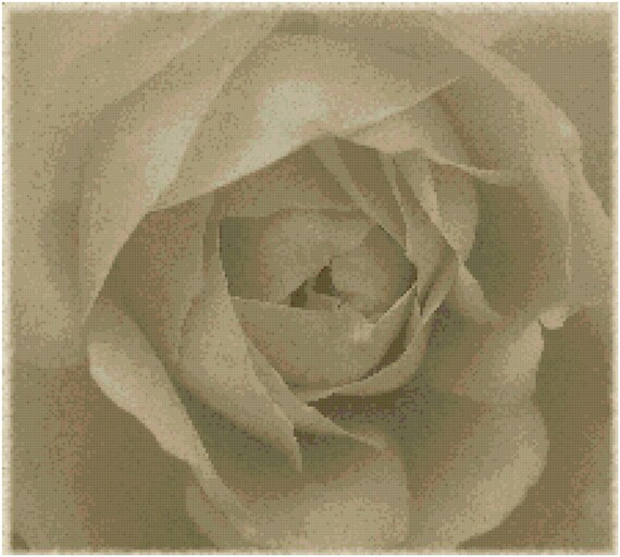 Antique Rose Counted Cross Stitch Pattern Chart PDF Download by Stitching Addiction