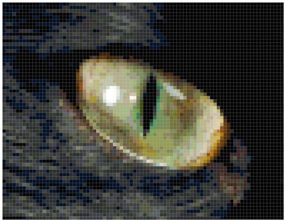 Black Cat Eye Counted Cross Stitch Pattern Chart PDF Download by Stitching Addiction