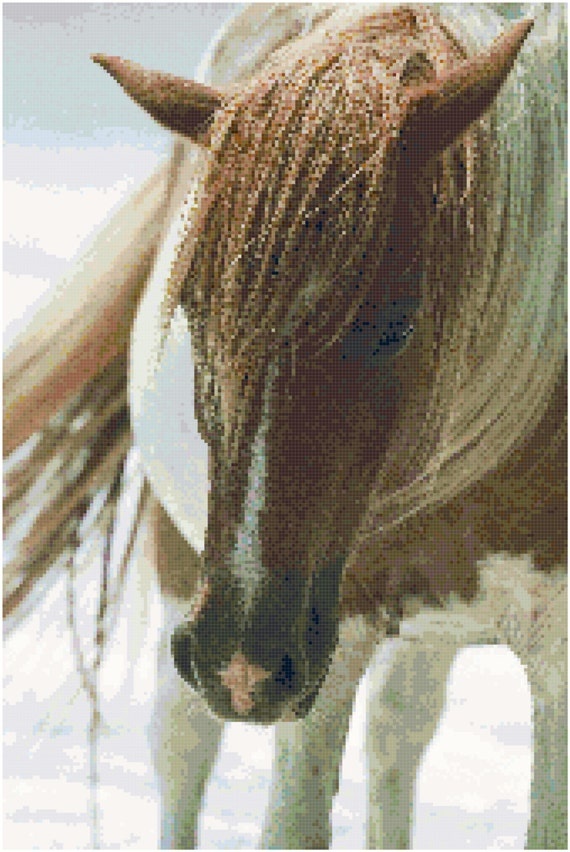 Horse Counted Cross Stitch Pattern Chart PDF Download by Stitching Addiction