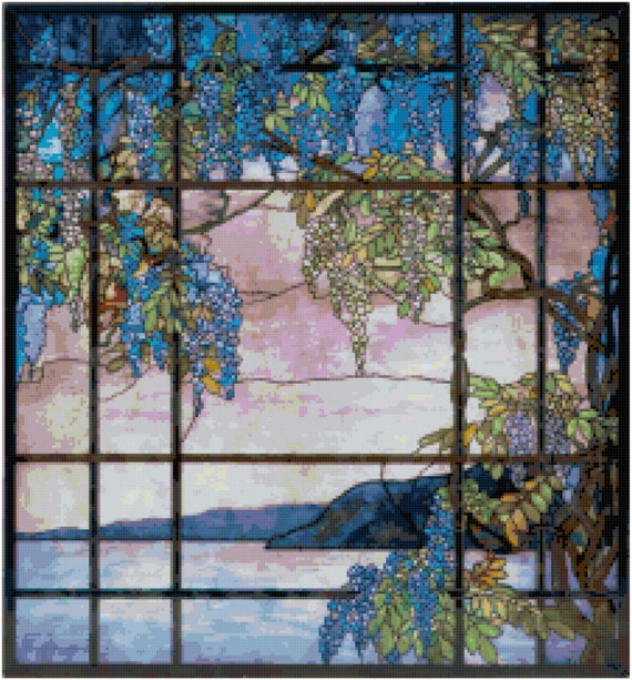 Louis Comfort Tiffany View of Oyster Bay Counted Cross Stitch Pattern Chart PDF Download by Stitching Addiction