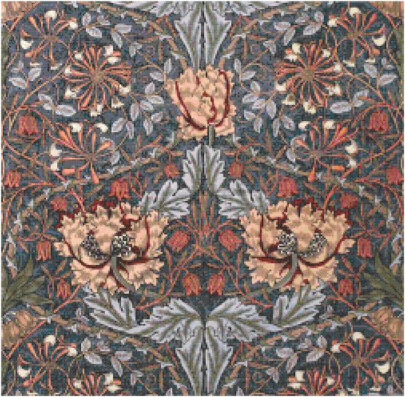 William Morris Honeysuckle Wallpaper Design Counted Cross Stitch Pattern Chart PDF Download by Stitching Addiction